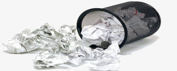 La via del cestino della carta
